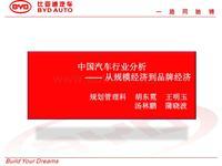 中国汽车行业分析报告