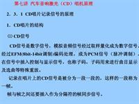 第07讲汽车音响激光(CD)唱机原理