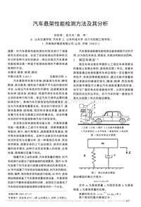 汽车悬架性能检测方法及其分析