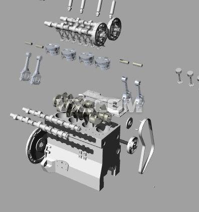 1.6丰田引擎组装图