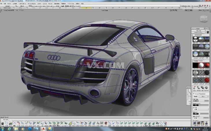 奥迪R8跑车 ALIAS高精度建模 igs格式文件