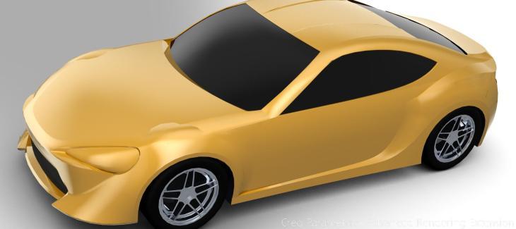 Creo设计的丰田86模型