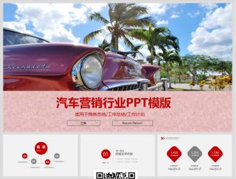 汽车营销行业PPT模版40